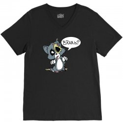 cute dead things kitty V-Neck Tee | Artistshot