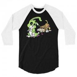 cute dead things puppy vs bunny 3/4 Sleeve Shirt   Artistshot