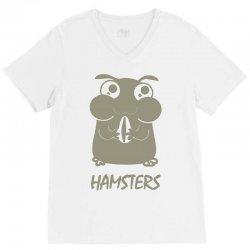 cute hamster V-Neck Tee   Artistshot