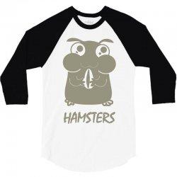 cute hamster 3/4 Sleeve Shirt   Artistshot
