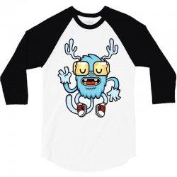 cute monster 3/4 Sleeve Shirt | Artistshot