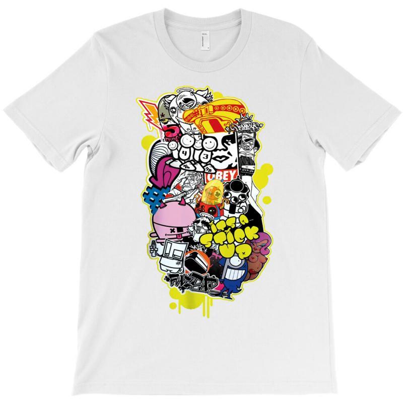 D Face Banksy Buff Monster Pez Insa Flying Fortress T-shirt | Artistshot