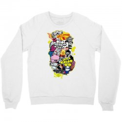d face banksy buff monster pez insa flying fortress Crewneck Sweatshirt | Artistshot