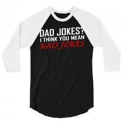 dad jokes 3/4 Sleeve Shirt | Artistshot