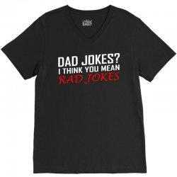 dad jokes V-Neck Tee | Artistshot