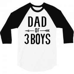 dad of 3 boys 3/4 Sleeve Shirt | Artistshot
