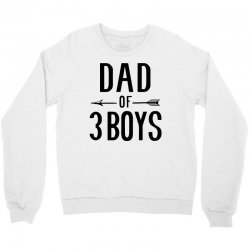 dad of 3 boys Crewneck Sweatshirt | Artistshot