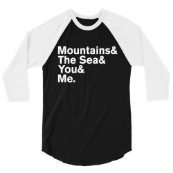 It's Only Mountains & Sea & Prince & Me 3/4 Sleeve Shirt | Artistshot
