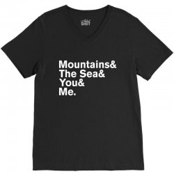 It's Only Mountains & Sea & Prince & Me V-Neck Tee | Artistshot