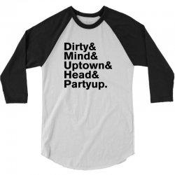 Homage to Prince Dirty Mind Album & Tracks 3/4 Sleeve Shirt   Artistshot