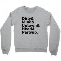 Homage to Prince Dirty Mind Album & Tracks Crewneck Sweatshirt   Artistshot
