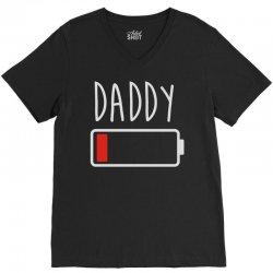 daddy low battery V-Neck Tee | Artistshot