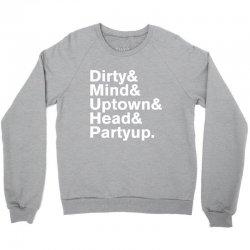 Homage to Prince Dirty Mind Album & Tracks Crewneck Sweatshirt | Artistshot