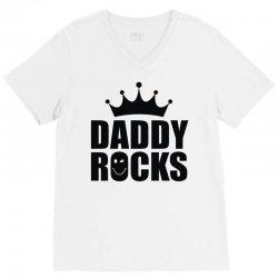 daddy rocks V-Neck Tee | Artistshot