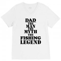 dads daddys fishing fisherman V-Neck Tee | Artistshot