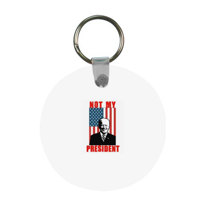 Joe Biden Not My President Frp Round Keychain Designed By Kakashop