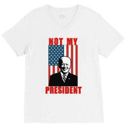 joe biden not my president V-Neck Tee | Artistshot