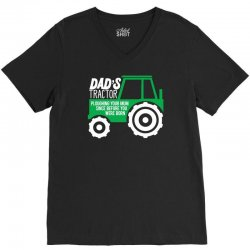 dad's tractor ploughing your mum V-Neck Tee | Artistshot