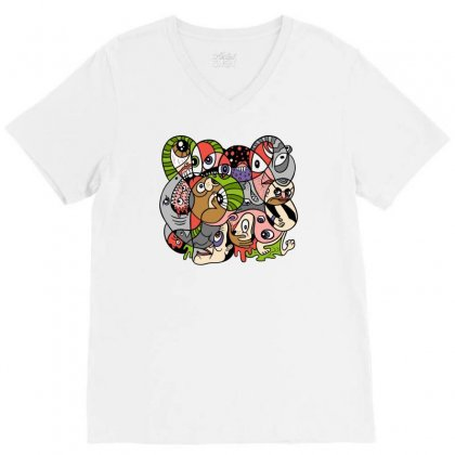Daily Drawing V-neck Tee Designed By Monstore