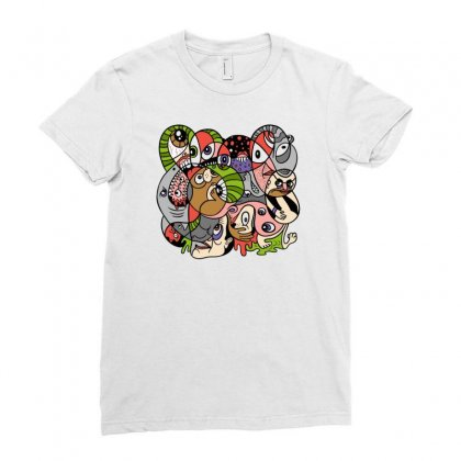 Daily Drawing Ladies Fitted T-shirt Designed By Monstore