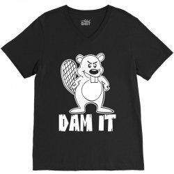 dam it beaver V-Neck Tee   Artistshot