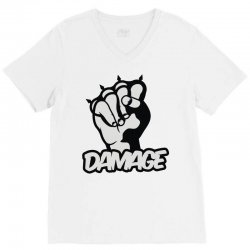 damage V-Neck Tee | Artistshot