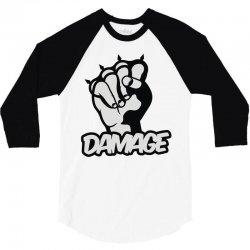 damage 3/4 Sleeve Shirt | Artistshot