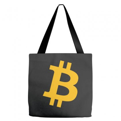 Bitcoin Logo Tote Bags Designed By Mdk Art