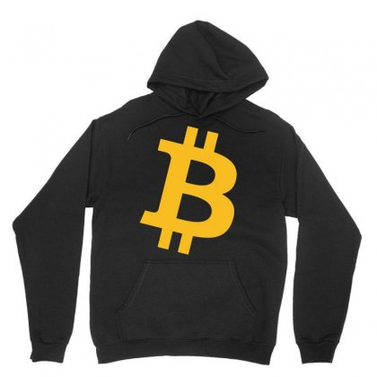 Bitcoin Logo Unisex Hoodie Designed By Mdk Art