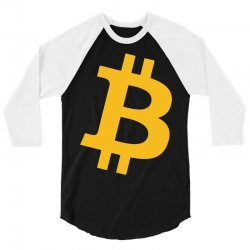 Bitcoin Logo 3/4 Sleeve Shirt   Artistshot