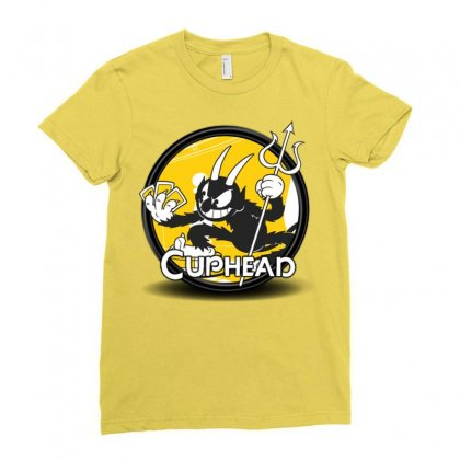 Cuphead Bros Ladies Fitted T-shirt Designed By Mdk Art