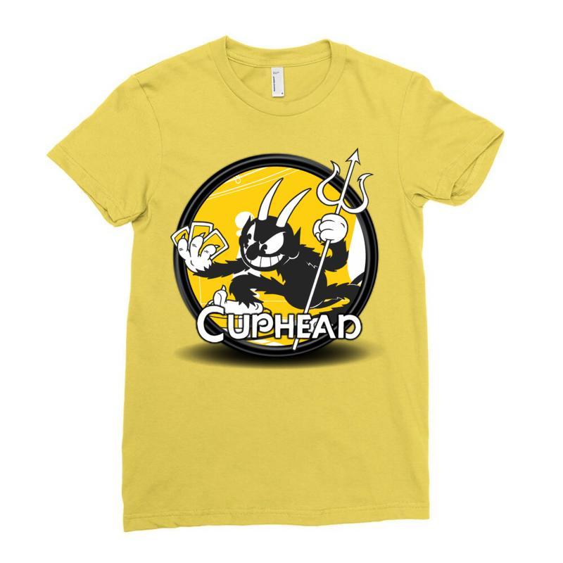 Cuphead Bros Ladies Fitted T-shirt   Artistshot