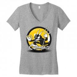 Cuphead Bros Women's V-Neck T-Shirt   Artistshot