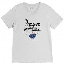 PRESSURE MAKES DIAMONDS V-Neck Tee | Artistshot