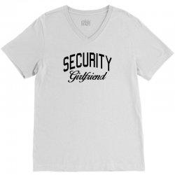 security girlfriend V-Neck Tee | Artistshot