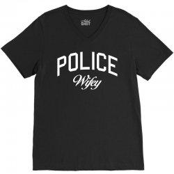 police wifey V-Neck Tee   Artistshot