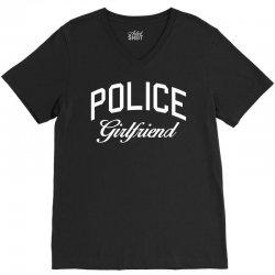 police girlfriend w V-Neck Tee | Artistshot