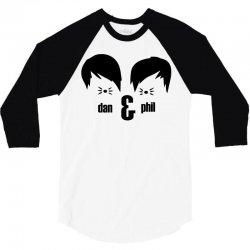 dan and phil 3/4 Sleeve Shirt | Artistshot