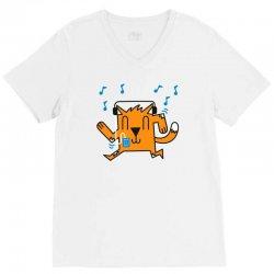 dancing cat V-Neck Tee | Artistshot