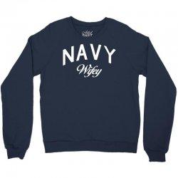 navy wifey w Crewneck Sweatshirt | Artistshot