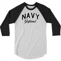 navy girlfriend 3/4 Sleeve Shirt | Artistshot