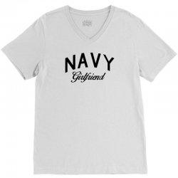 navy girlfriend V-Neck Tee | Artistshot