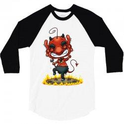 dancing devil 3/4 Sleeve Shirt   Artistshot