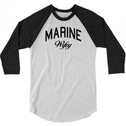 marine wifey 3/4 Sleeve Shirt | Artistshot