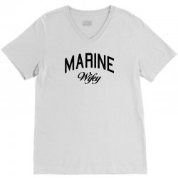 marine wifey V-Neck Tee | Artistshot