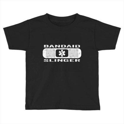 Bandaid Slinger Toddler T-shirt Designed By Charlesfo