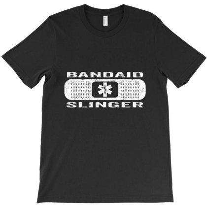 Bandaid Slinger T-shirt Designed By Charlesfo