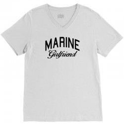 marine girlfriend V-Neck Tee | Artistshot
