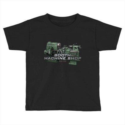 Booth Machine Shop Forrest Green (fashion Fit Tee) Toddler T-shirt Designed By Charlesfo
