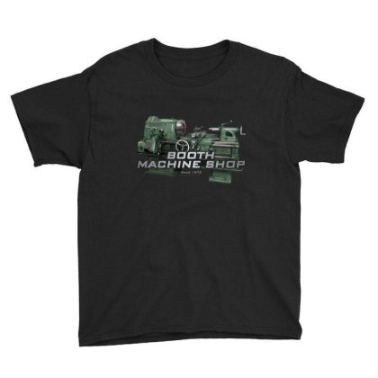 Booth Machine Shop Forrest Green (fashion Fit Tee) Youth Tee Designed By Charlesfo